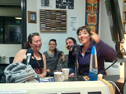 OU With Emily Hay and Amy Denio on air at KXLU 88.9, Los Angeles